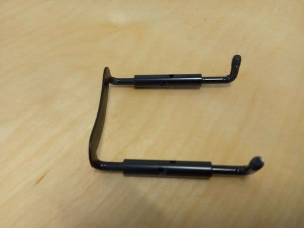 NEW VIOLIN CHIN REST CLAMP, BLACK METAL, 4/4, PROFESSIONAL PRODUCT, UK